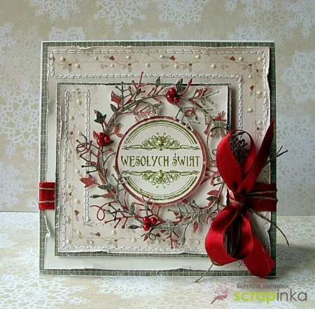Примеры Новогодних открыток от скрап мастериц