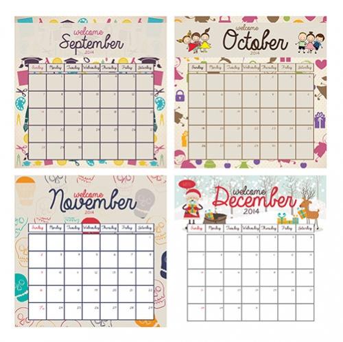 Яркие календари для распечатки к