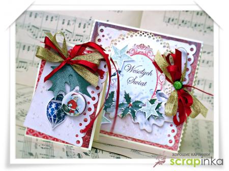 Скрапбукинг: новогодние открытки - примеры для вдохновения!