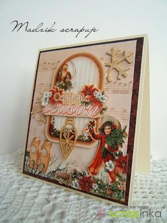 Очарование новогодних открыток, сделанных своими руками в стиле скрапбукинга