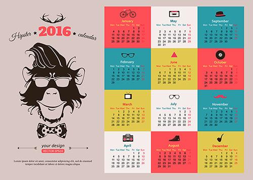 Календарь в фотошопе с фотографиями на 2017 год